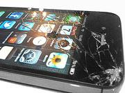 сломанный экран с целой матрицей от iphone,  galaxy note,  galaxy s,