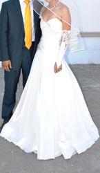 свадебное платье цвета айвари(слоновая кость)