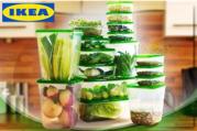 Набор контейнеров для хранения продуктов из 17 предметов.