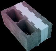 Термоблок - 3х слойный камень с теплоизоляцией
