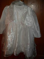 Продам белое платье с пелериной