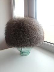 шапка женская из чернобурки