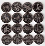 Монеты Знаков зодиака Либерия ($5) 2000 года Восточный Гороскоп