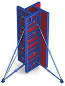 Опалубка колон на универсальных щитах
