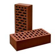 Кирпич одинарный лицевой пустотелый (шоколадный)
