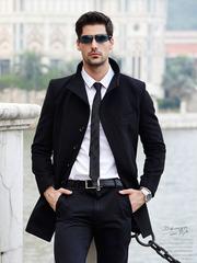 Удлиненное мужское пальто