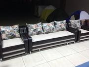 Новый раскладной диван с креслами