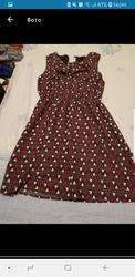 платье красное летнее астана продам