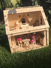 Деревянный Домик для кукол LOL/Лол/Отличный подарок/Качество/Hand made